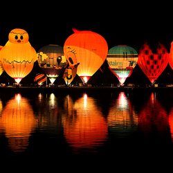 Lichtshow luchtballonnen
