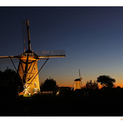 Windmills in Floodlight