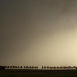 dreigende hagelbui boven Haarlemmermeer