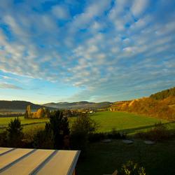 Uitzicht van uit ons huisje in Centerpars Hoch sauerland