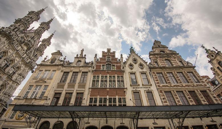 Leuven - Grote Markt - Leuven - Grote Markt met stadhuis