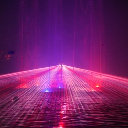 Een lichtshow in Tivoli