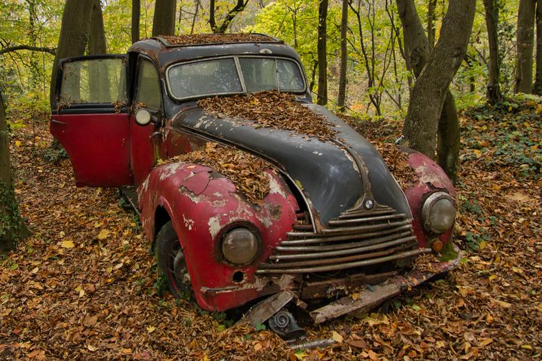 BMW - Auto-Skulpturen-Park in Neandertal, Erkrath.<br /> De verzamelaar heeft alleen auto&#039;s en motoren staan uit zijn geboortejaar (1950) alles