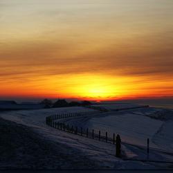 Zonsondergang bij Koehool