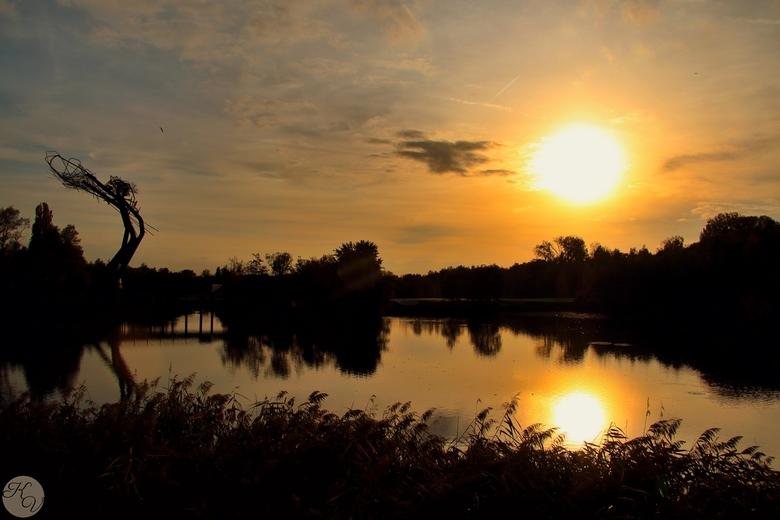 De Schorre - Zonsondergang in de Schorre, Boom, Belgie