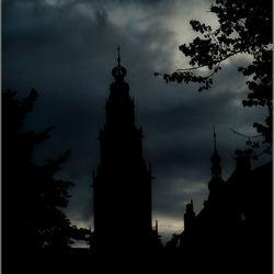 Groningen in de avond