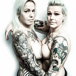 White Trash tattoo clan babes