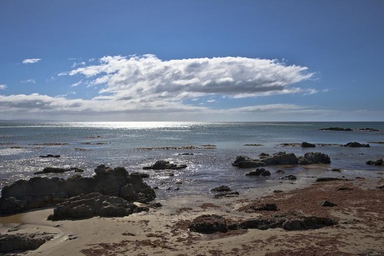 Nieuw-Zeeland 084 - Zelfde stukje kust als de vorige up, maar nu in tegenlicht.