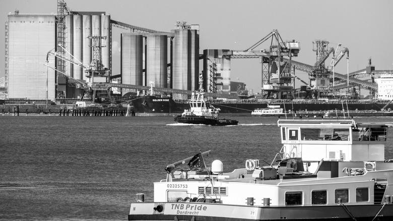 naamloos (1 van 1) - Bedrijvigheid in de Rotterdamse haven.