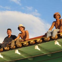 Op het dak in Trinidad, Cuba