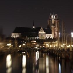 Lensbaby Grote kerk van Dordrecht