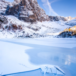 Lago Sorapis, Dolomieten, Italie