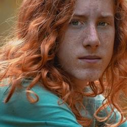 Model met mooi rood haar