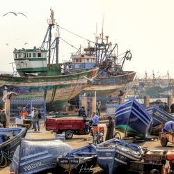 De haven van Essaouira