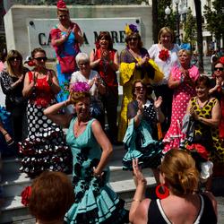 Dansen tijdens El Rocio in Cardiz spanje