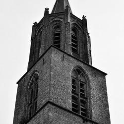 Kerktoren zwart-wit