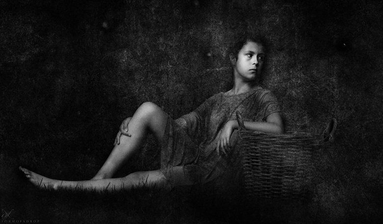 A Girl With An Empty Basket