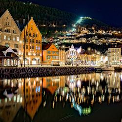 Nachtelijk Bryggen