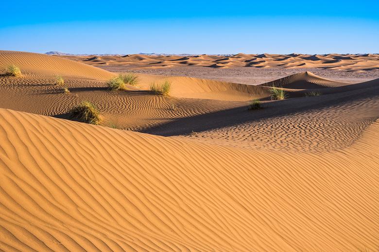 Erg Chigaga - Ik blijf maar mooie foto's vinden van zandduinen. Deze is op een andere manier bewerkt die volgens mij niet alleen beter overeenkom