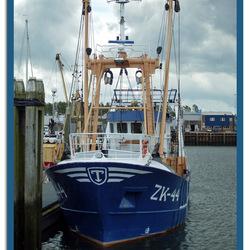 Zoutkamper trawler in Lauwersoog