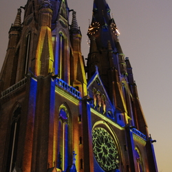 Glowing church