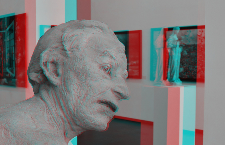 Art by Virgilius Moldovan Zic Zerp Gallery Rotterdam 3D - Art by Virgilius Moldovan Zic Zerp Gallery Rotterdam 3D<br /> anaglyph stereo D7000 cha-cha