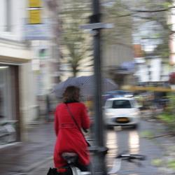 Fietser in de regen - Utrecht