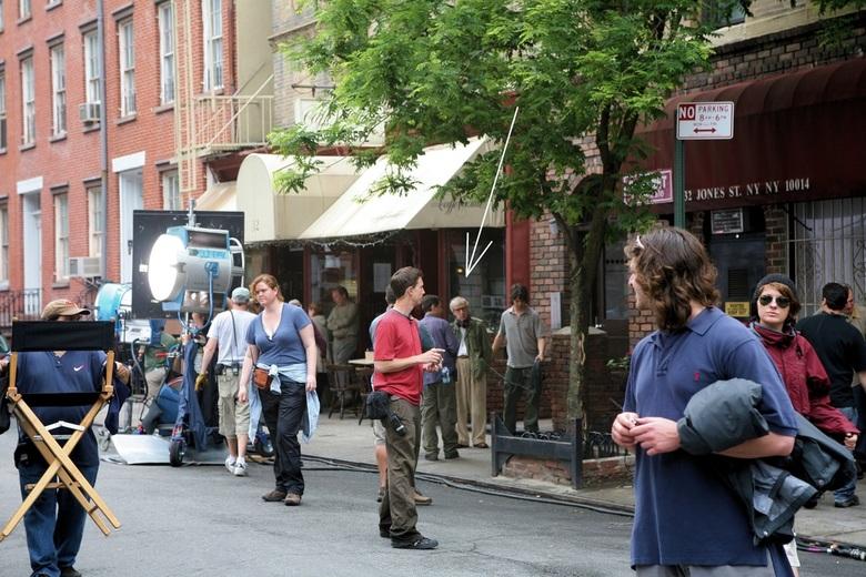 New York 4 - En dan kom je plotseling Woody Allan tegen die aan &#039;t filmen is in Bakerstreet, Manhatten.<br /> Fotograferen streng verboden, maar
