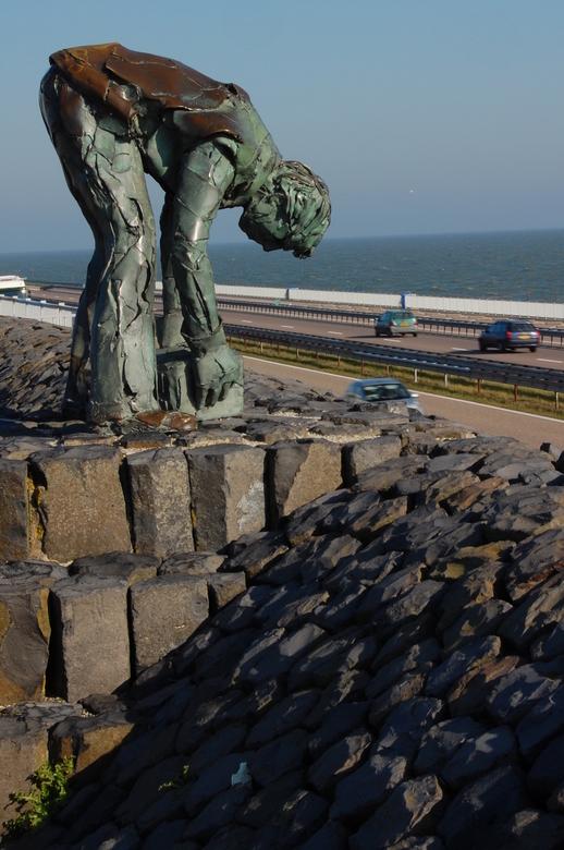 De Steenzetter - De Steenzetter op de Afsluitdijk