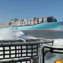 Emma Maersk op Vlissingen Rede