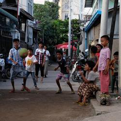 A road in Mandalay