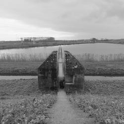 Doorgezaagde bunker
