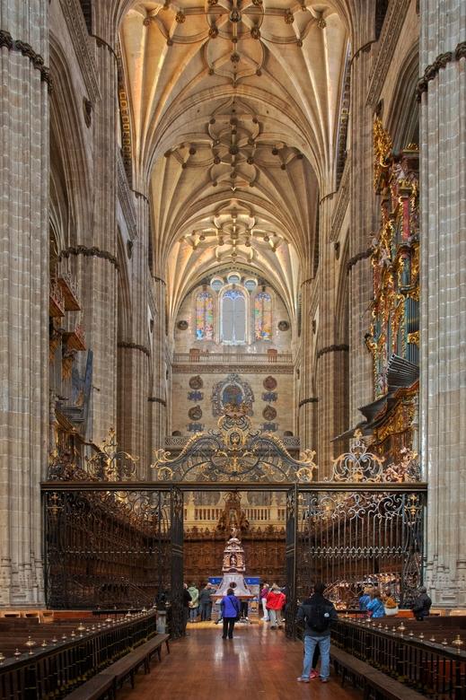 Spanje 113 - Het schip van de kathedraal van Salamanca. HDR van 3 opnames.