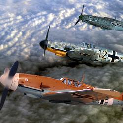Bewerking: Formatie Messersmith Bf-109-G`s