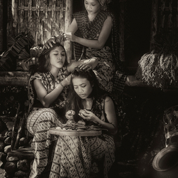 Three Bali Girls