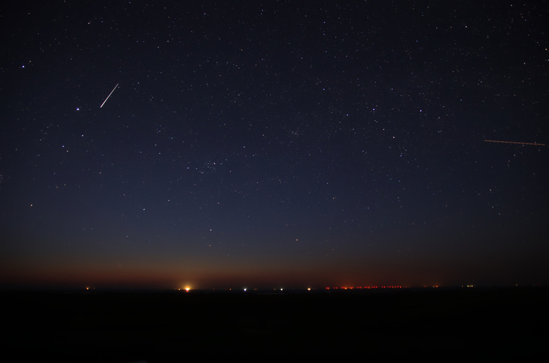 Vallende ster - Vallende ster op de dijk bij Westernieland