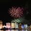 Vuurwerk boven Willemstad (Curacao)
