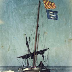 Oude vissersschuit