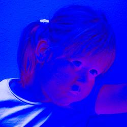 Blauwe vrouw