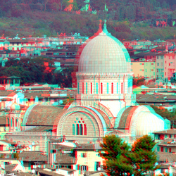 Florence 3D anaglyph