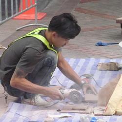 Werk op straat