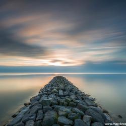 Ijsselmeer zonsondergang