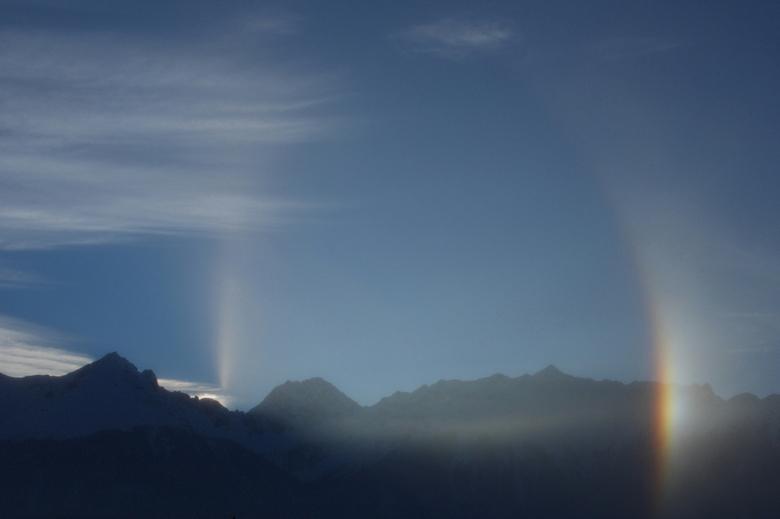 Fiss rainbow 2 - Hier is de regenboog iets beter zichtbaar als op de vorige upload. Heb nog nooit een regenboog gezien bij droog weer, waarschiijnlijk