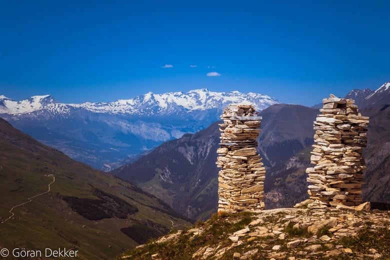 Vals - De bergen boven Vals in Graubunden