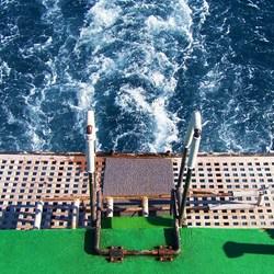 op de boot...