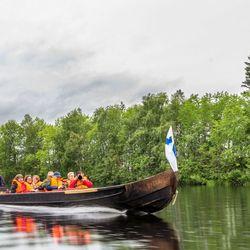 Boottocht naar rendierenfarm bij Rovaniemi