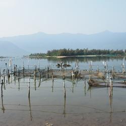 Groet van een Vietnames mosselvisser