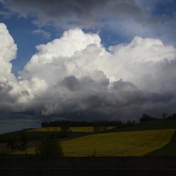Wolken in de Ardennen