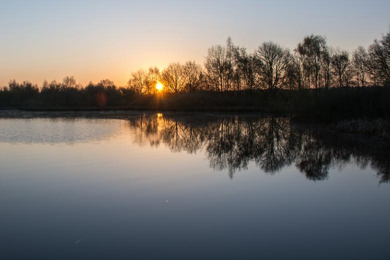 zonsopkomst in de Peel