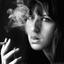 Smoking selfportrait.